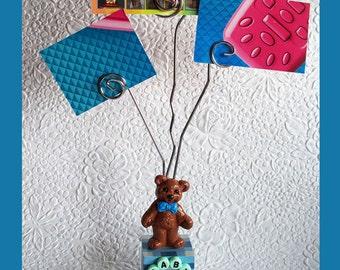 Baby Boy Block Wire Photo Holder