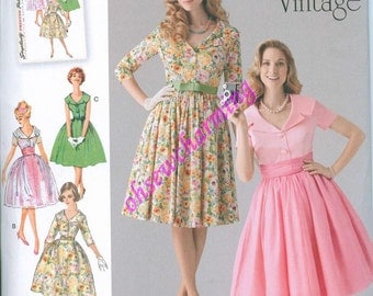 1950s Simplicity 1459 Sewing Pattern Vintage Style Sizes 8-10-12-14-16 June Cleaver Dresses Pleasantville