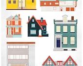 House Illustration Print
