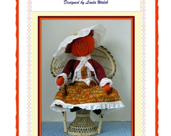 Penelope Pumpkin Lady Victorian Art Doll E-Pattern