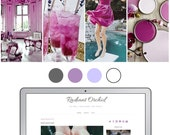 Mobile Responsive Blogger Template | Premade Blogger Template | Blog Design Radiant Orchid