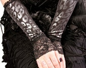 Armwarmers, Black, Silver, Leopard, Cocktail, Tribal, Lace, Circus, Gothic, Vampire, Dark Fusion Boutique, Lucretia Renee