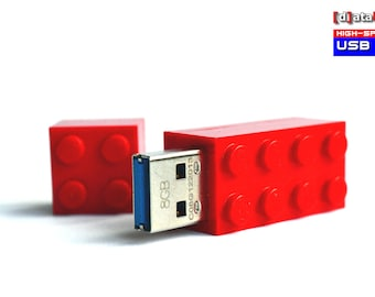 4GB to 32GB USB 3.0 Flash Drive in a orginal Lego® 2x4 Brick many available Colours