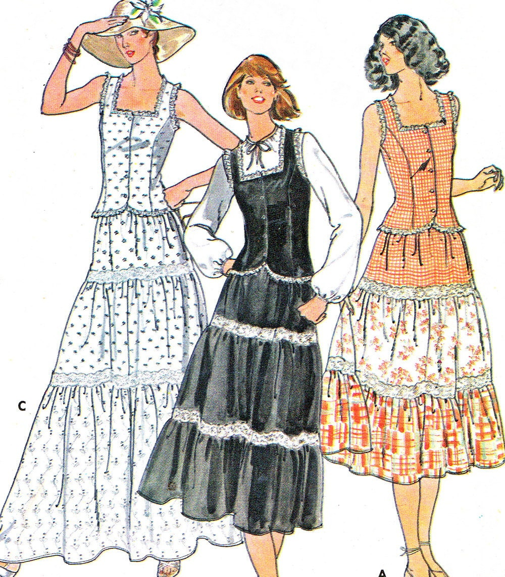 1970s Dress Pattern Butterick 6053 Two Piece By