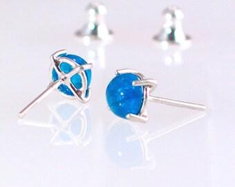 Neon Blue Apatite Earrings