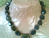 EVERGLADES jasper and labradorite pendant statement necklace