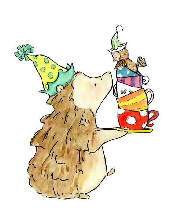 Children's Art -- Party Animals -- Archival Print