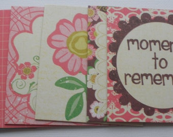 MOMENTS Journal Cards: Chipboard Die Cuts - Journaling Spots / Quotes / Picture Cards - 15 Piece Embellishment Kit