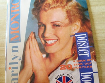 Oversized 1986 Marilyn Monroe Atlanta Press Poster Book - 20 Tear Out Posters