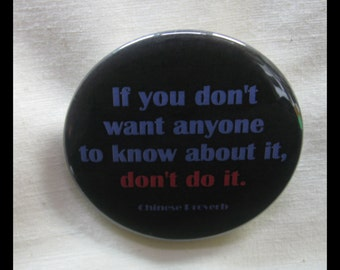 "One 2 1/4"" pinback button Good Advice"