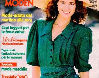 Burda Moden Magazine - ITALIAN version - Patterns Included - July 1989