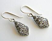 Bali Silver Teardrop Earrings