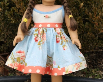 Too Cute Tank Dress for Dolly PDF Sewing Pattern Sized for 15 and 18 inch dolls
