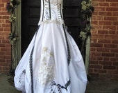 Sally Custom Gothic Wedding Gown Hand Painted