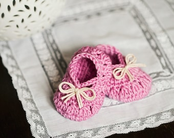Instant download - Baby Booties Crochet PATTERN (pdf file) - Petit Bow Booties