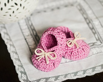 Crochet PATTERN - Petit Bow Booties