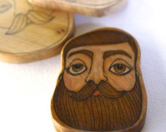 Beard Man Imaginary Boyfriend - Made to Order OOAK - Illustrated