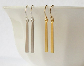 Simple Bar Earrings, Jewelry, Earring, Dangle Earrings