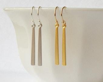 Modern Bar Earrings, Bridesmaid Jewelry Gift