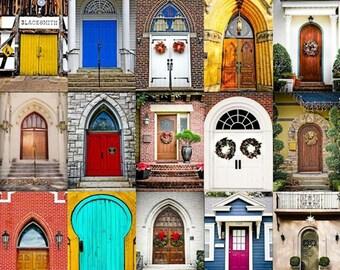 Motivational Door Collage Fine Art Print - Doors, Realtor, Realty, Architecture, Office Decor, Gift