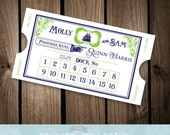 Vintage Styled Boat Ticket Place Cards Escort Cards - Nautical Wedding Travel Theme -  Customizable coordinating Printable DIY Digital File