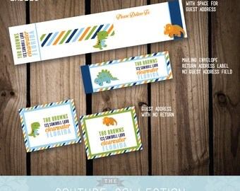Address Labels (Choice of ONE style) - Roarsome Dinosaur Birthday Party Theme  -  (Fully Customizable) Printable DIY Digital File