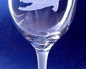 2 Hand Etched, Carved Gator on 20 oz. Goblets. Plus FREE SHIPPING to lower 48 states