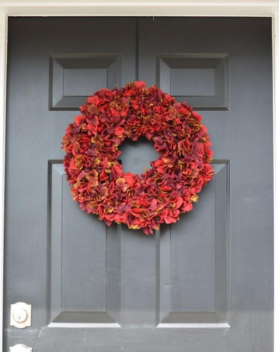 Fall Wreaths- Hydangea Wreath- Fall Decor- Fall Hydrangea Wreath- Fall Decoration- Autumn Decor- Door Wreath- Etsy Wreath- Fall Hydrangeas