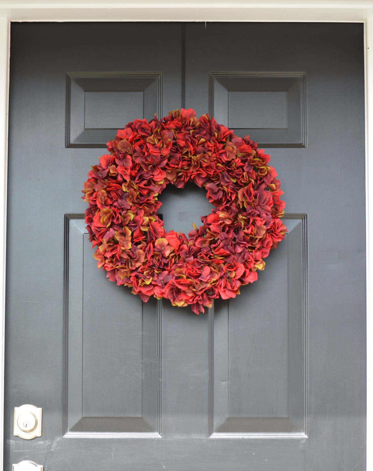 Fall wreaths hydangea wreath fall decor fall hydrangea for 3 wreath door decoration