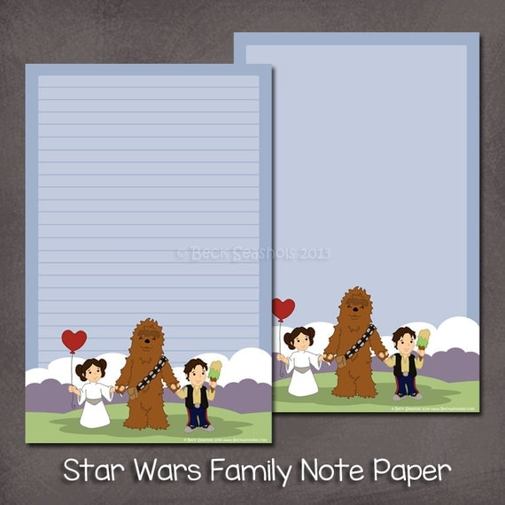This Would Be Cute To Change Into The Welcome Letter To: Items Similar To Star Wars Family Note Paper