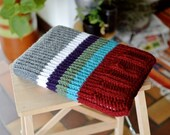 Laptop sleeve, macbook sleeve, apple bag, protective case, striped autumn colours, knitted 13 inch