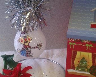 Charlie in the box keepsake light bulb ornament