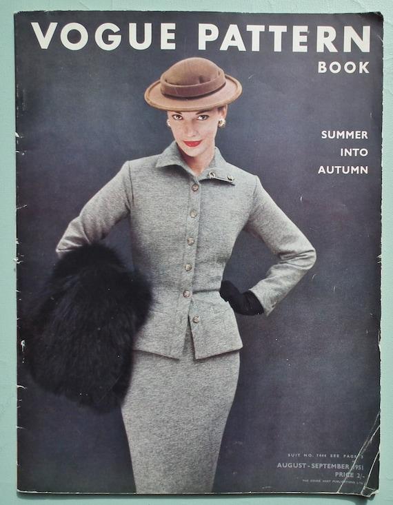 Vogue Pattern Book 1951 Vintage 50s Sewing Patterns Catalog