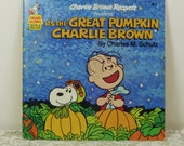 Its the Great Pumpkin Charlie Brown, Peanuts Gang Halloween Read Along Book and Record, Charlie Brown Records, Buena Vista