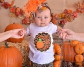 Fall Thanksgiving Black Tan and Brown Leopard Print Ruffle Pants 0-3, 3-6,  6-12, 12 18 month 2T 4T 6T