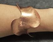 Artisan Jewelry / Cuff Bracelet / Metal Jewelry / Copper Jewelry / Hammered Jewelry / Statement Jewelry / Unusual Jewelry / Gift for Her