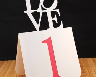 Love Philly Table Numbers 1 to 25 Wedding
