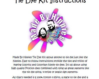 Made By Hippies Tie Dye Kit Instructions (24 Pages 594KB .PDF)