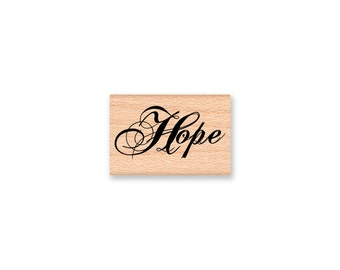 HOPE- wood mounted Rubber Stamp (mcrs 26-25)