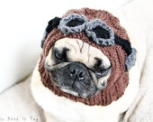 Aviator Dog Hat - Pug Hat - Aviator Costume - Dog Clothing - Pet Accessories - Dog Beanie - Gift for Pet Parents - All You Need is Pug®