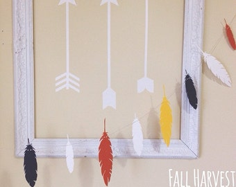 Paper Feather Garland, Paper Garland