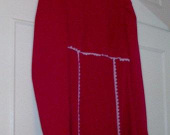 Cherry Red Empire Waist Dress - Size S
