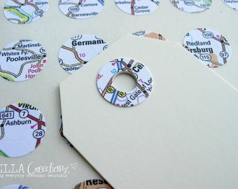 Map Reinforcement Stickers, Filofax Planner stickers