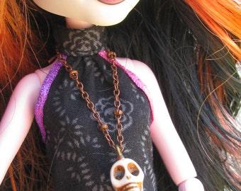 Skull Gothic Doll Jewelry Necklace Set fits Petite Slimline High Dolls