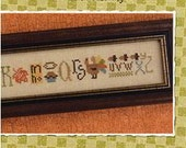 Lizzie Kate Snippet S109 - Thankful String - Autumn Counted Cross Stitch Chart, Pattern