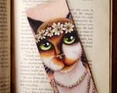 Daisy Cat Bookmark Calico Cat Great Gatsby Roaring 1920s Inspired Cat Bookmark