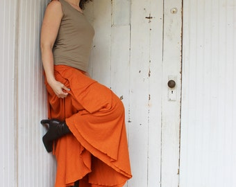 Hemp and Organic Cotton Full Length Wrap Skirt - Organic Clothing Made to Order - Choose Your Color