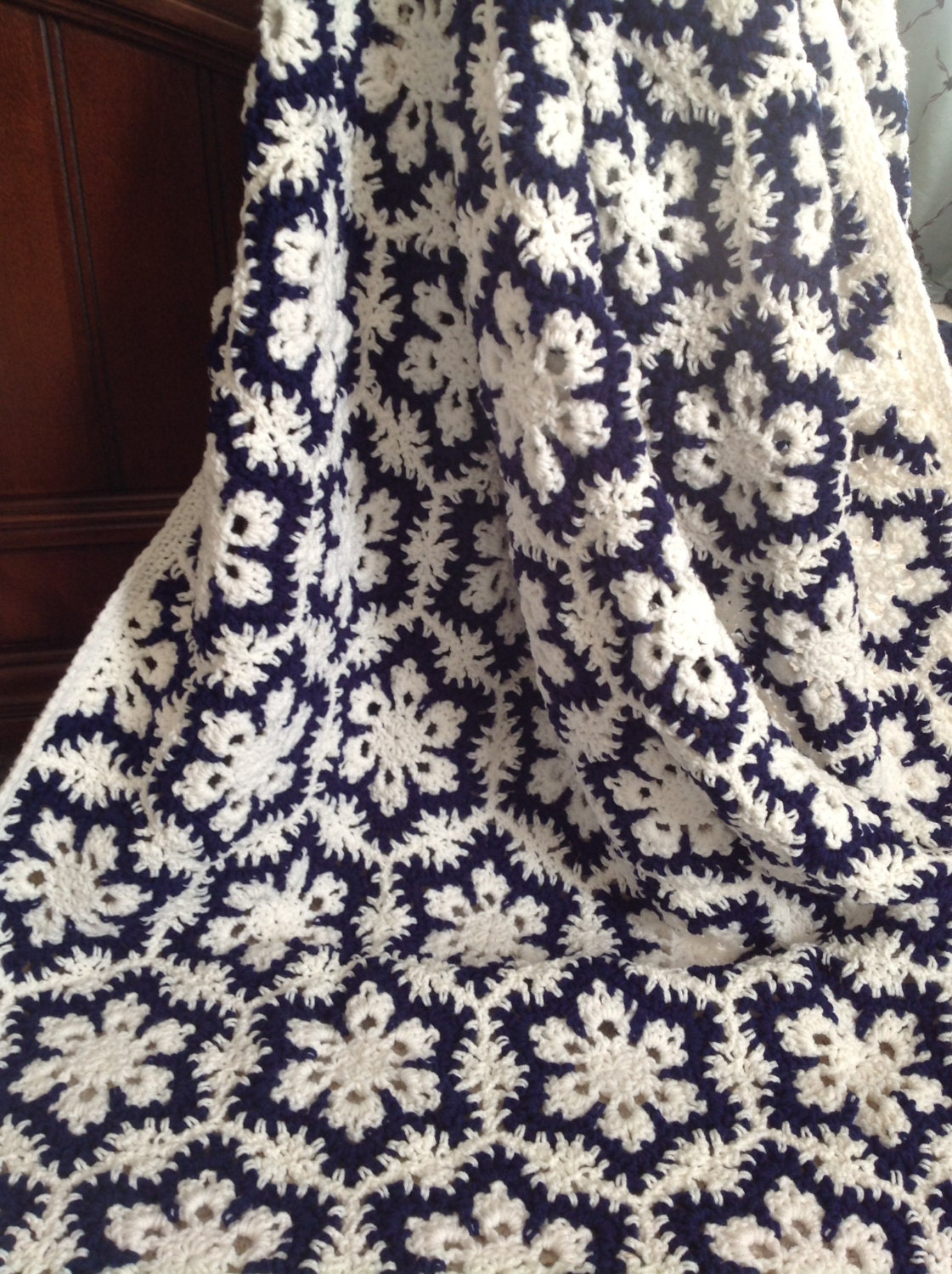 Special Order for Creigh11 Gorgeous Crocheted Snowflake Afghan