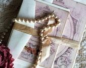 Romantic Vintage Wedding Invitation Suite SAMPLE Handmade by avintageobsession on etsy