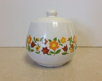 Pretty McCoy Pottery Floral Jar